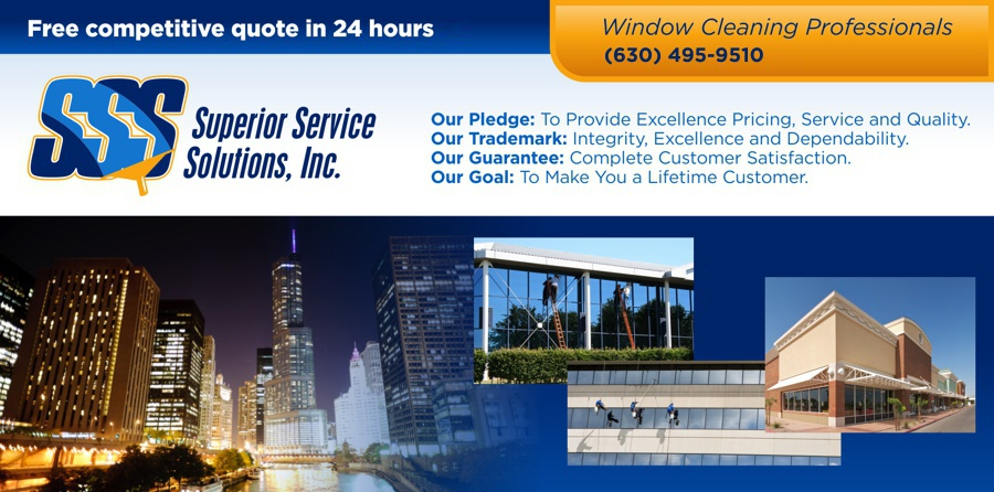 Chicago and Greater Chicagoland - Northern Indiana - Window Cleaning Professionals - Commercial - Residential